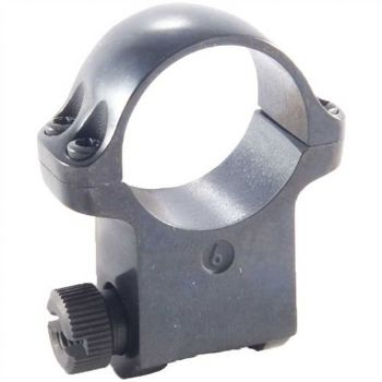 "Ruger 6B Mount Ring - 1"" Blued Alloy Extra High Height for upto 62mm scope lens - 90272"
